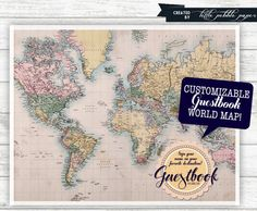 Welcome to the World Baby Shower Printable, Baby Girl Shower, Guestbook Map, Gender Neutral, Travel Theme, Globe, Around the World Shower