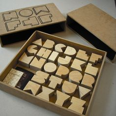 Great for Kids / Or Typography Nerd: stamps alphabet Wooden Alphabet, Wood Letters, Letters And Numbers, Alphabet Board, Alphabet City, Alphabet Stamps, Alphabet Letters, Typography Letters, Typography Design