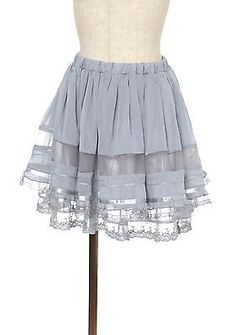 axes femme Dress Miniskirt Gray/kawaii lolita /MORI GIRL Japanese Brand