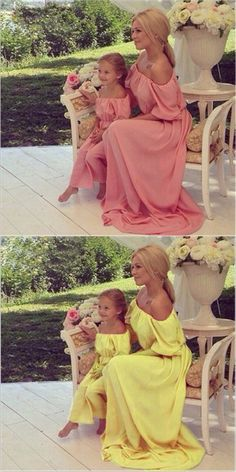 7ccc98dba01 Mommy and Me Dresses Mother Mom and Daughter Clothes Elegant Dress Wedding  Family Evening Party Mum