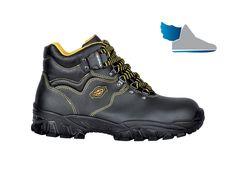 Čierne, členkové topánky  NEW DANUBIO S1 P SRC  s rýchloupínacím systémom.