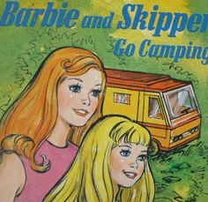vintage 70s children's book barbie and skipper by vvpaperemporium