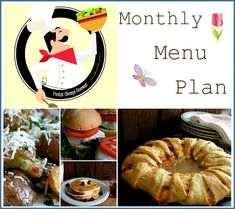 Spring-Monthly-Menu-Plan-Pocket-Change-Gourmet  I just found this site, thank you to Hoosier Homemade for the Link!