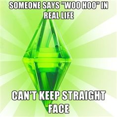 "Sims - Someone says ""woo hoo"" in real life can't keep straight face"