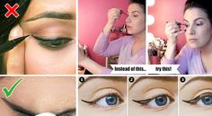 Applying eyeliner is very difficult so you need to be professional. But, all womens are not professional. So, there is technique to apply eye liner.