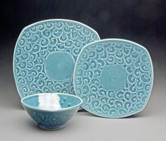 Dinnerware with Swirls - Neil Estrick