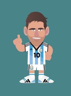 Lionel Messi - World Cup Football stars by Matteo Cuccato, via Behance