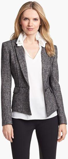 Minka Metallic Tweed Jacket - Lyst