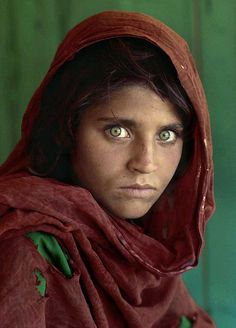 Pick one word to describe the famous Afghan girl!