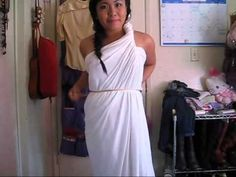 ▶ 2 MINUTES GREEK GODDESS COSTUME NO SEWING *Reupload* - YouTube