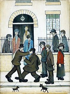 A Fight, by Laurence Stephen Lowry. English Artists, British Artists, Spencer, Chef D Oeuvre, Art Uk, Naive Art, Canvas Prints, Art Prints, Your Paintings