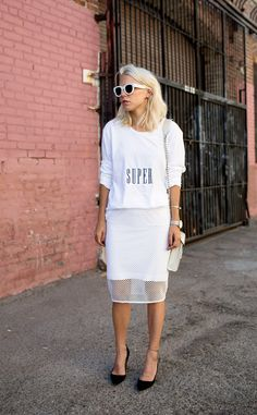 +++ Always Judging, White Springs, Spring Trends, All White, Shirt Dress, T Shirt, Beni, Sweaters, Dresses