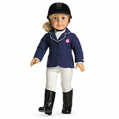 American Girl® Clothing: Fancy Riding Outfit for Dolls + Charm