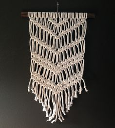 Macrame Wall Hanging Valley by HollyMuellerHome on Etsy, $120.00