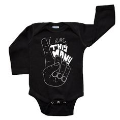 I Am This Many Baby Kids Birthday Shirt - One Year Old Shirt - One Piece Long Sleeve Baby Bodysuit - Baby or Toddler I'm This Many