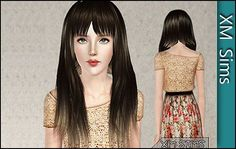 Straight long hair by Death - Sims 3 Downloads CC Caboodle