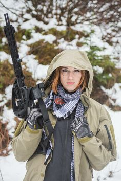 """Maressa Fox with a 13.7"""" and B.E. Meyers & Company, Inc. 249F build  http://www.weaponoutfitters.com/weapon-outfitters-barrel-bem-combo.html  WO/CFF Shemagh:   http://www.weaponoutfitters.com/combat-flip-flops-weapon-outfitters-shemagh.html  Founded by veterans, Combat Flip Flops provides jobs and opportunity to communities affected by conflict. These shemaghs are hand made in Kabul Afghanistan, and are lightweight, soft and comfortable. Great for sun shelterin summer, and warmth in winter."""