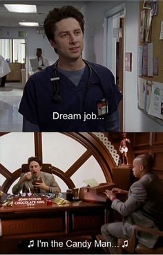 scrubs -most hilarious show! Candy man Tell me you didn't start singing it a little! Tv Funny, Funny Movies, Scrubs Tv Shows, I Cant Do This, Himym, Parks N Rec, Tv Quotes, Laughing So Hard, Movies And Tv Shows
