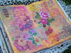 Eclectic Paperie: Summer Garden Art Journal Page