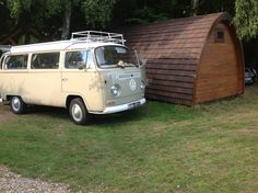 A picture from one of our #campers with Blossom, our lovely #retro #vw #campervan. Family didn't want to let her go! Visit www.kentcampervanhire.co.uk to make your dream trip come true!