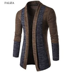 51cf7ee613 FALIZA 2019 New Spring Cardigan Male Fashion Quality Cotton Thin Sweater  Men Casual Gray Redwine Mens Knitwear Clothes XYA