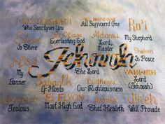 cross stitch bible verse Names of God Jehovah Most High God, Cross Stitch Designs, Cross Stitch Patterns, Reading Help, Names Of God, Favorite Bible Verses, Jehovah, Joyful, Stitching, Banner
