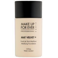 *reallyyyyy wanna try this* MAKE UP FOR EVER Mat Velvet + Matifying Foundation: Shop Foundation | Sephora.  Current foundation! (3/5/13)