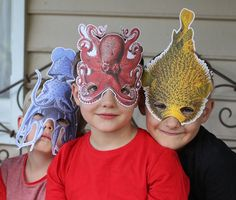 Add some fun to your next party with these unique Under the Sea themed masks, specially crafted from beautiful 19th Century illustrations by naturalists Ernst Haeckel and Albertus Seba. These masks make great props for imaginative play or even for party favours. YOU ARE BUYING: **Instant download - no physical product will be sent to you** ➢ 5 x jpg files in high resolution, each containing one mask. One of each animal: Octopus, Puffer fish, Squid, Green fish and Crab YOU WILL NEED: ➢ A p...