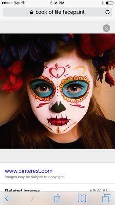 HALLOWEEN!! makeup!! // The Book of Life -La Muerte- by ...