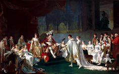 ImageNapoléon reçoit à Paris le 22 août 1807 le Prince Jérôme Bonaparte et la Princesse Catherina Frederica de Wuertimberg à l'occasion de leur mariage; tableau de Jean-Baptiste Regnault