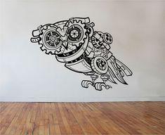 Owl Wall Decal Sticker vinyl Art Decor Bedroom Design Mural sugar skull by StateOfTheWall on Etsy https://www.etsy.com/listing/218722394/owl-wall-decal-sticker-vinyl-art-decor