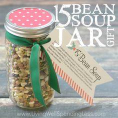 15 Bean Soup Jar Gift Square 2