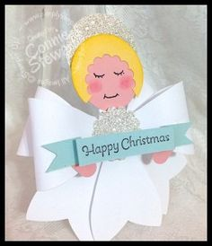 Angel made from Gift Bow die - www.SimpleSimpleStamping.com