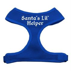 Mirage Pet Products Santas Lil Helper Screen Print Soft Mesh Dog Harnesses Small Blue ** Want to know more, click on the image.Note:It is affiliate link to Amazon.