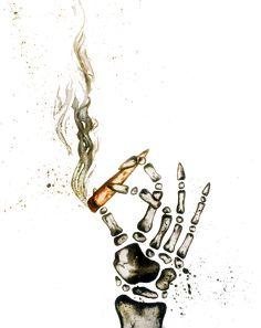 """Smoke 1""  16""x20"" acrylic on canvas #pandanation#sheip#weed#skeleton#drawing#painting#splatter#anime#illustration#popart#gold#blunt#modern#contemporary#art#panda"