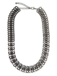 Our Gunmetal Tab Strand.  A little bit punky (think soda-can tabs,) a little bit glitzy!  Layer this on to add a little extra sparkle to night-time numbers.
