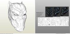 Foamcraft template for Black Panther - Civil War Helmet.