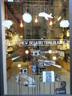 Belair Trailblazer shopping window