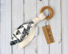 Organic Wood Teether, Teething Toy, Teething Ring by Ollie & Tate
