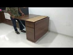 Folding dining table - YouTube Folding Dinning Table, Dining, Table For Small Space, Small Spaces, Daining Table, Woodworking Ideas Table, Office Desk, Kitchens, Gadgets