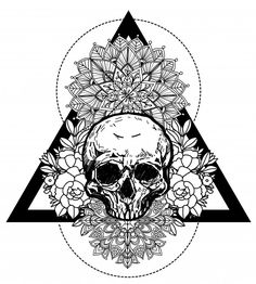 Tattoo Art Skull And Flower Hand Drawing And Sketch Black And White With Line Art Illustration Discover thousands of Premium vectors available in AI and EPS formats Flower Tattoo Drawings, Flower Tattoo Arm, Mandala Tattoo, Tattoo Art, Head Tattoos, Skull Tattoos, Gothic Pattern, Free Tattoo Designs, Black And White Sketches