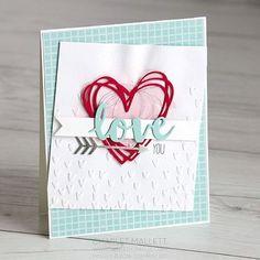 Love YOU card ❤using Sunshine Wishes. #stampinup #sunshinewishes #valentinecard #handmadecard #papercraft #handmadecards #stampreviewcrew #lovecard