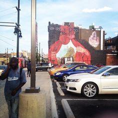 Atlas District mural by Gaia. H Street, NW, Washington DC. National Mall, Gaia, Washington Dc, Murals, The Neighbourhood, Graffiti, Street Art, To Go, Old Things