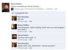 Oh Ron. You know you love drarry Harry Potter Texts, Harry Potter Comics, Harry Potter Ships, Harry Potter Universal, Harry Potter Fandom, Harry Potter World, Drarry, Dramione, Harry Potter Draco Malfoy