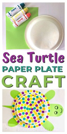 Easy Paper Plate Sea Turtle Craft for Kids