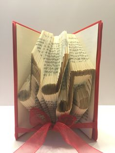 Folded Book Art Best Selling Item Music Notes Centerpiece Piano Recital Teacher Gift Decor Personalized Treble Clef Unique Party Retirement
