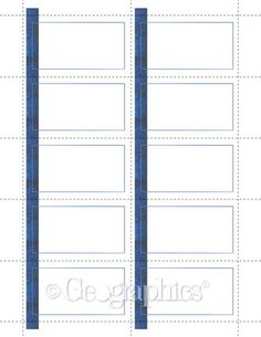 Blue Line Business Cards, 2x3.5, 250/PK