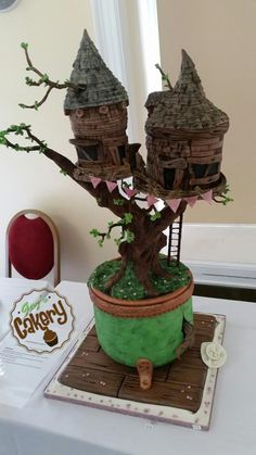 Bonsai treehouse wedding cake - Cake by GazsCakery