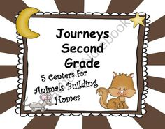Animals Building Homes Journeys Second Grade 5 Centers from Teaching Second Grade on TeachersNotebook.com (30 pages)  - Animals Building Homes Journeys Second Grade (5 Literacy Centers)  I have chosen 2 important skills that are taught in this story. I also have included a vocabulary and making words center.  Included are 5 Literacy Centers  Prefixes (un and re) (What does