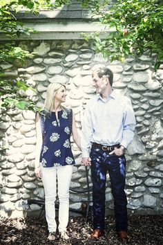Outdoor engagement photos standing by rock wall - Photo by Relive Photography by Laura Parent Outdoor Engagement Photos, Engagement Pictures, Rock Wall, Engagement Photography, Getting Married, Photo Wall, Inspiration, Wedding, Biblical Inspiration